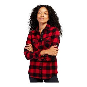 Roots Unisex Park Plaid Button Up Long Sleeve Shirt Cabin Red US Large